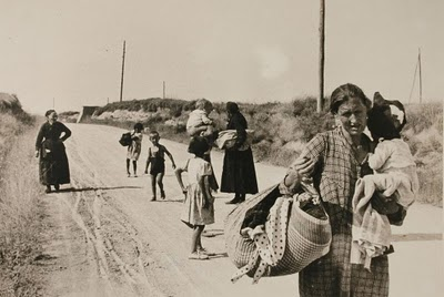 La Retirada, photographie d'Agustí Centelles